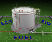 Eco Bio Fuel storage tank — 图库照片