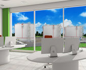 Interior office of energy company — Stock Photo