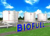 Serbatoi di stoccaggio del combustibile per biocarburanti — Zdjęcie stockowe