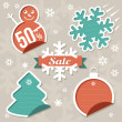 Christmas Sticker tags — Stock Vector