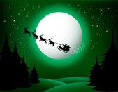 Santas Sleigh - vector — Stock Vector