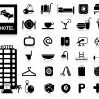 Hotel Icons set - Vector — Stock Vector