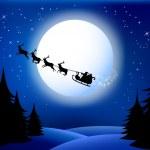 Santas sleigh — Stock Vector #17104835