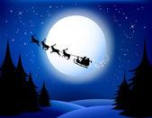 Santas sleigh — Stock Vector