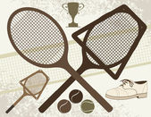 Old Tennis Elements — Stock Vector