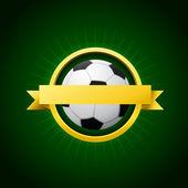 Vector Soccer Emblem — Stock Vector