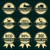 Collection of labels - for sellers — Vector de stock