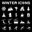 Winter Icons Set (Negative) - VECTOR eps8. — Stock Vector