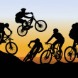Stockvektor : Conquer mountain biking