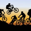 Conquer mountain biking — 图库矢量图片 #16862027
