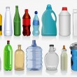 Stock Vector: Kinds of bottles