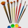 Brush for coloring - Stok Vektr