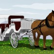 Horse carriage - Stock Vector