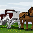 Stock Vector: Horse carriage