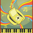 Music wave — Vector de stock #16863997