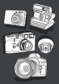 Camera outline — Stock Vector