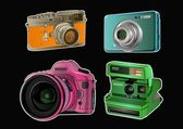 Kamera color 4 — Stockvektor