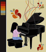 A beleza de jogar music2 — Vetorial Stock