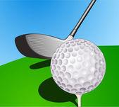 Ball and stick golf — Vector de stock