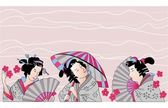 Traditional Japanese woman — Stock Vector