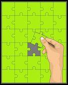 Intelligent game — Stock Vector