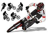 Mountain bike active — Stock Vector