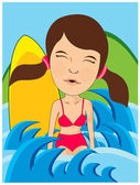 Swim girl — Stock Vector