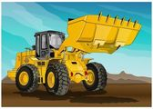 Heavy equipment to clear — Stock Vector