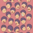Royalty-Free Stock Vector Image: Facial expressions of the characters