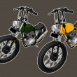 Custom motorcycle — Image vectorielle