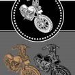 Royalty-Free Stock Vector Image: Custom motorcycle outline
