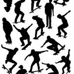 Skater silhouette — Stock Vector #20979687