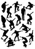 Skater silhouette — Stock Vector