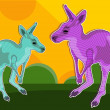 Kangaroo imagination — Stock Vector