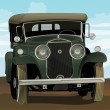 Antique car - Stockvectorbeeld