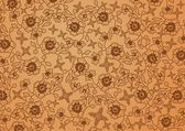 Flower batik brown — Vettoriale Stock