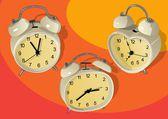 Various alarm clock — Stock Vector
