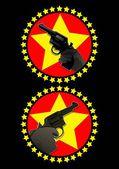 Gunpoint symbol — Stock Vector
