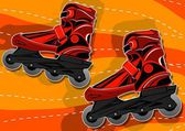A pair of roller skates — Stock Vector