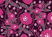 Indonesian batik flower pink — Vecteur