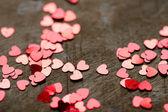 Glitter hearts — Stock Photo