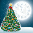 Beautiful Christmas Tree EPS 10 - Stock Photo