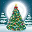 Royalty-Free Stock Vectorafbeeldingen: Beautiful Christmas Tree EPS 10
