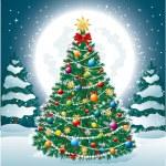 Beautiful Christmas Tree EPS 10 — Stock Vector
