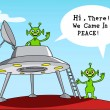 Funny Comic Story about aliens. - Stock Vector
