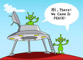 Funny Comic Story about aliens. — Stock Vector