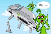 Zabawna historia komiks o kosmitach. — Wektor stockowy