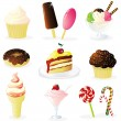 Sweet Food - Stockvectorbeeld