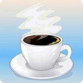 Illustration of the cup of coffee — Stock Vector