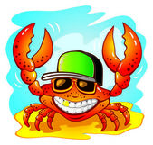Illustration of the funny crab — Stock Vector